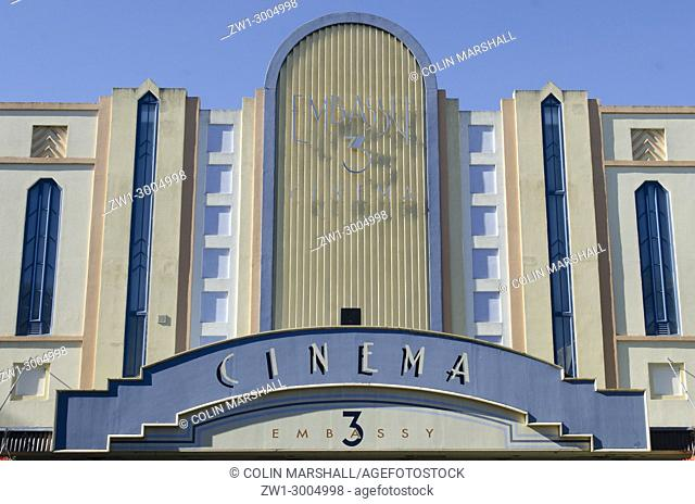 Art deco building, Embassy Cinema, Victoria Avenue, Whanganui, North Island, New Zealand