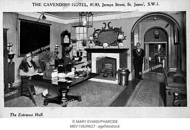 The entrance hall of the Cavendish Hotel, 81-83 Jermyn Street, London