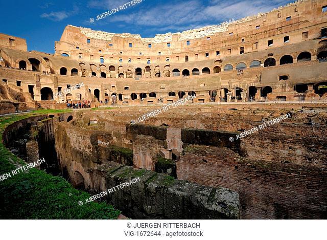 ITALY, ROME, 23.11.2008, interior of Colosseum, Flavian Amphitheatre, Rome, Italy, Europe - ROME, ITALY, 23/11/2008