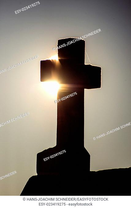 Cross in back light