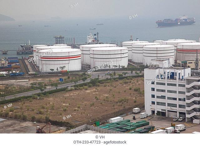 Oil depot at Nam Wan Kok, Tsing Yi, Hong Kong