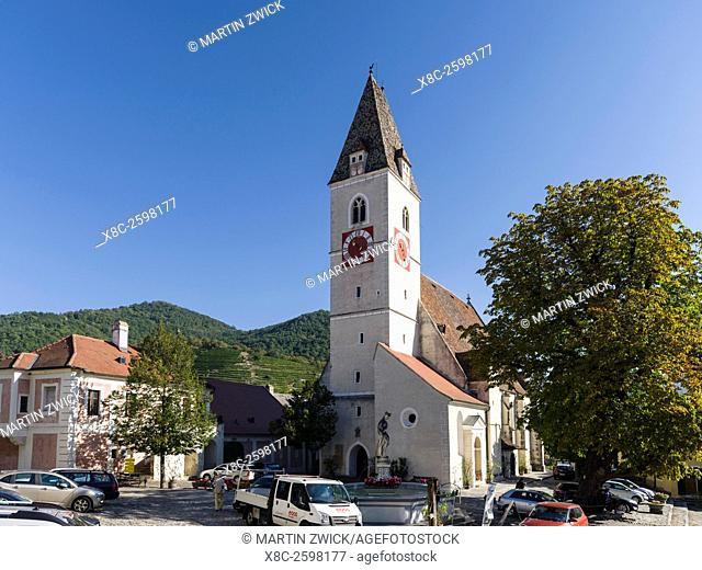 Church in the village Spitz in the Wachau. The Wachau is a famous vineyard and listed as Wachau Cultural Landscape as UNESCO World Heritage