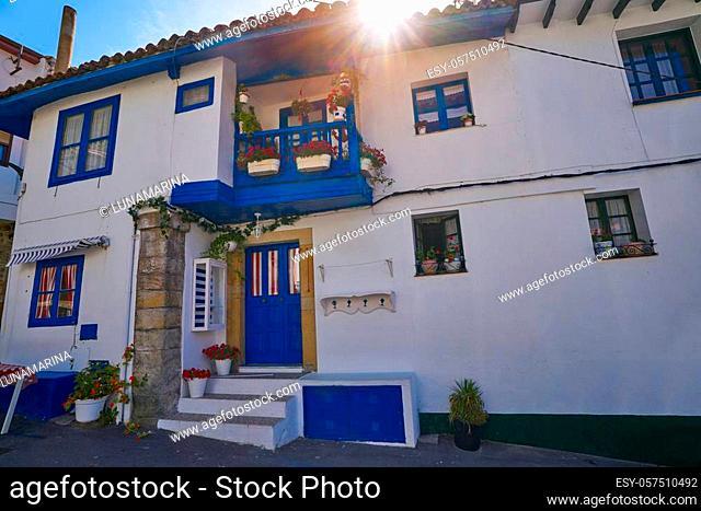 Tazones village facades of Asturias in Spain