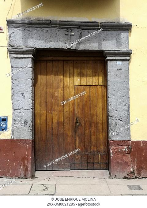 Traditional architecture in the Ayacucho city, Peru