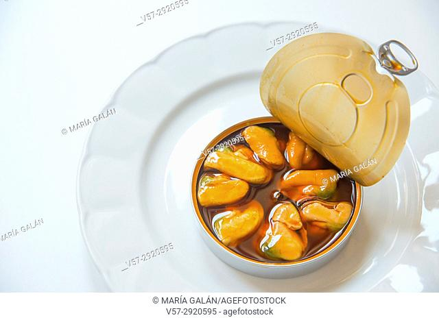 Open can of mussels