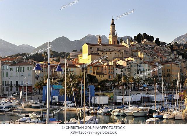 harbour, Menton, French Riviera, Alpes-MaritimesMaritime Alps, France