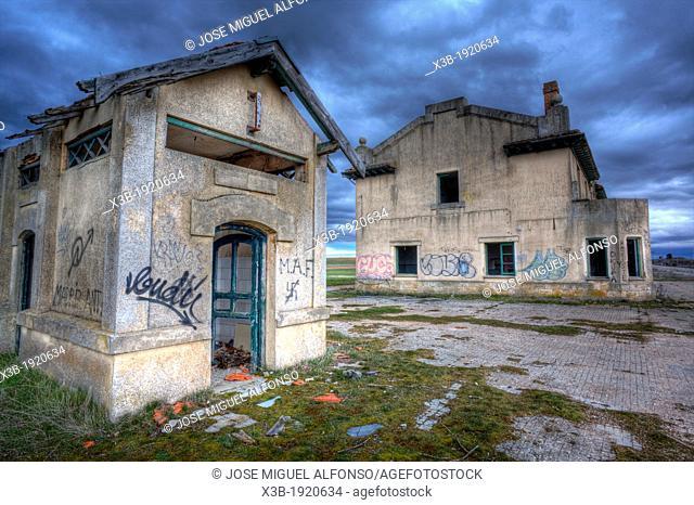 Abandoned train station, Fontioso, Burgos, Spain