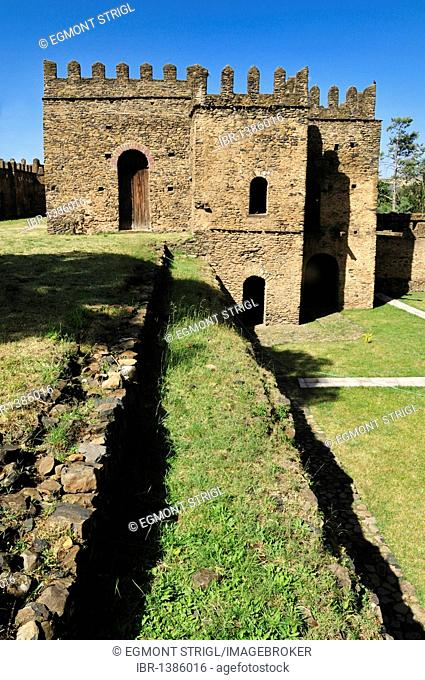 Emperor Bakaffa Banqueting Hall, Royal Enclosure Fasil Ghebbi, UNESCO World Heritage Site, Gonder, Gondar, Amhara, Ethiopia, Africa