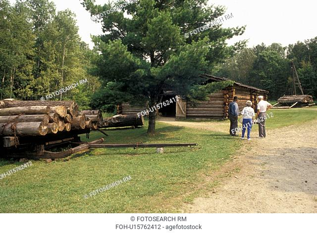 forestry, logging, Grand Rapids, MN, Minnesota, Replica of a 19th-century Logging Camp at the Forest History Center in Grand Rapids
