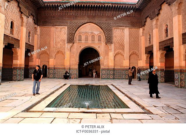 Morocco, Marrakech, Ben Youssef madrasa