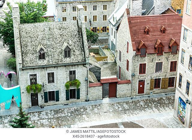 Quebec City, Quebec, Canada - Sept. 9, 2015: Quiet streets await the onrush of visitors for an international grand prix cycling race