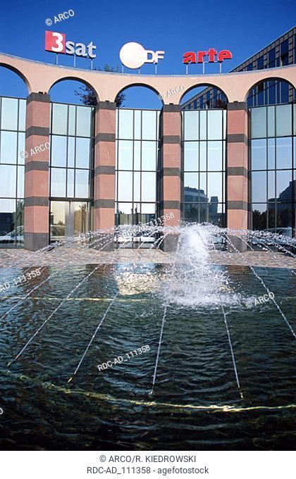 Fountain at ZDF telestation Mainz Rhineland-Palatinate Germany