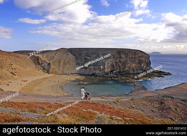 Papagayo beach, Playa Blanca. Lanzarote Island. Canary Islands Spain