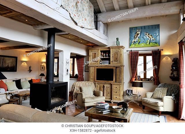 le luxueux chalet Pecchio, Le Miroir,Sainte-Foy-Tarentaise,departement de Savoie,region Rhone-Alpes, France,Europe//the luxury Pecchio chalet at Le Miroir...