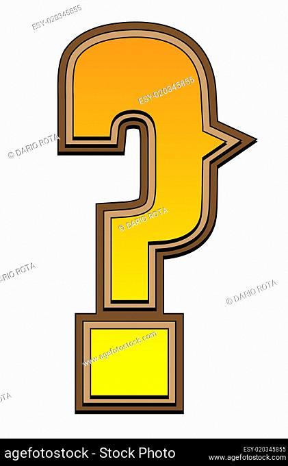 Western alphabet - question mark