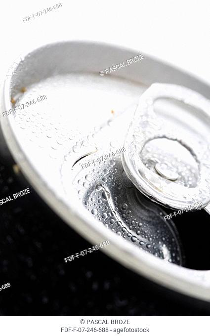 Close-up of open lid of a drink can