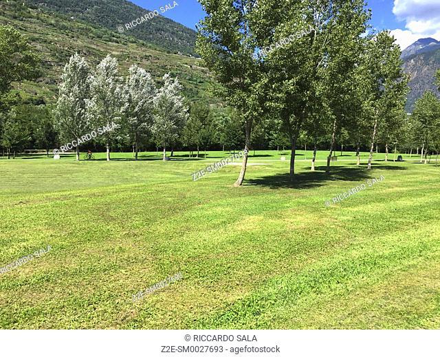 Italy, Lombardy, Valtellina, Sondrio, Parco Adda Mallero Renato Bartesaghi, Public Garden.