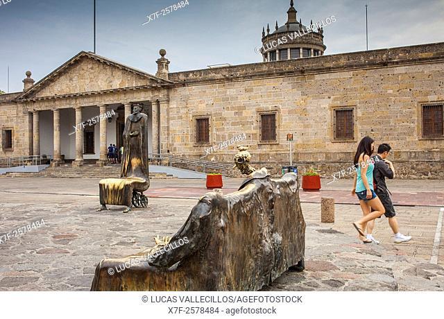 `Sala de los magos' (1993) sculptural group by Alejandro Colunga. And Hospicio Cabañas, in Paseo Monosabios and , Guadalajara, Jalisco, Mexico
