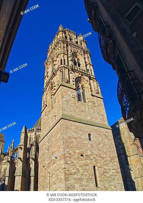 Cathedrale Notre Dame d Assomption de Rodez, Rodez, Aveyron Department, Occitanie, France