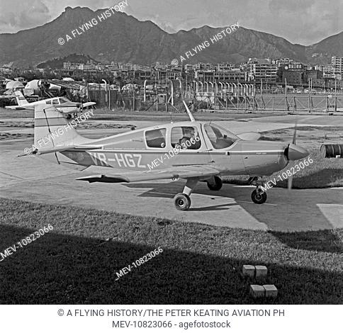 The Beagle Pup VR-HGZ was a light touring aircraft used for flying training and practice by the Hong Kong Flying Club. Crashed in the Hong Kong New Territories...