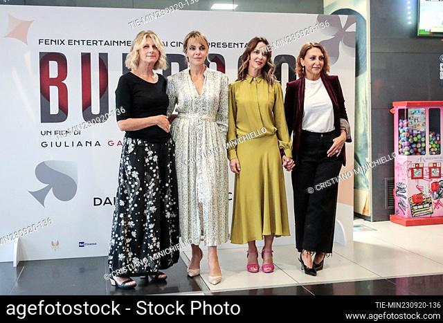 Angela Finocchiaro, Claudia Gerini, Caterina Guzzanti, Paola Minaccioni during the photocall, Rome, ITALY-23-06-2020