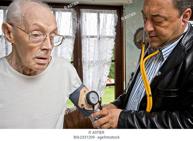 Photo essay. Home consultation of a general practitioner. Cassel, France