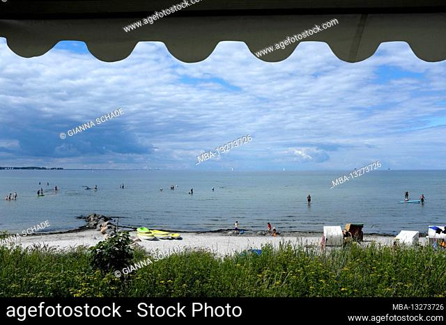 Camping holiday on the Baltic Sea