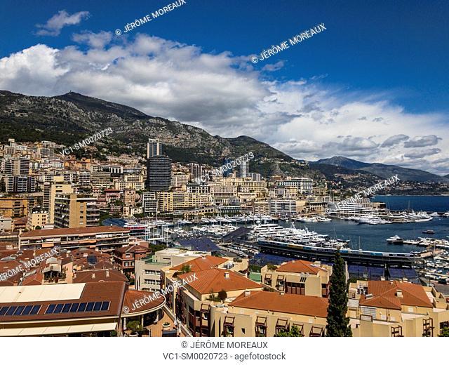 View over Port de Monaco, Montecarlo, Monaco