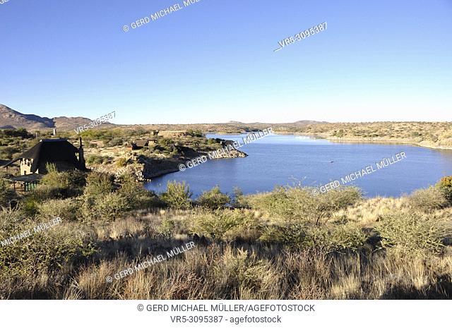 Namibia: Lake Oanob is an idyllic holiday resort with a lake and a dam near Rehoboth in the Kalahari desert