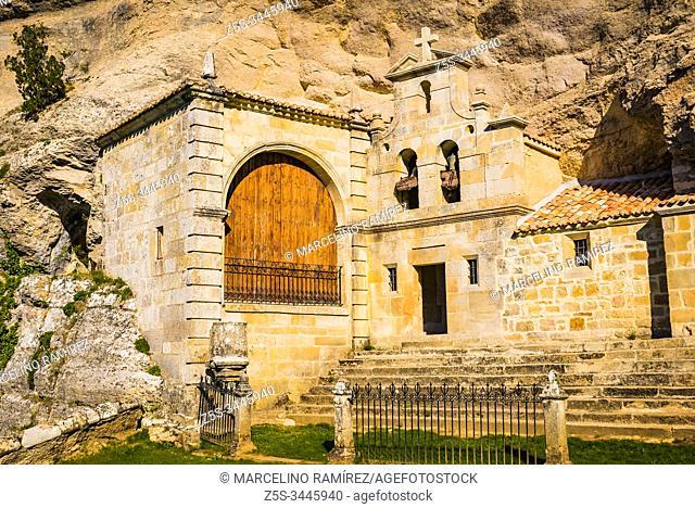 Ermita de San Bernabé, Ojo Guareña Natural Monument. Merindad de Sotoscueva, Burgos, Castilla y Leon, Spain, Europe