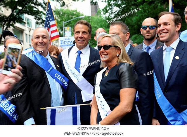 2017 Celebrate Israel Day Parade on Fifth Avenue in New York City. Featuring: Governor Andrew M. Cuomo Where: New York City, New York