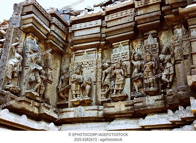 Ramayana Carvings, Palasnath Temple, Palasdev on backwaters of Ujani dam Maharashtra