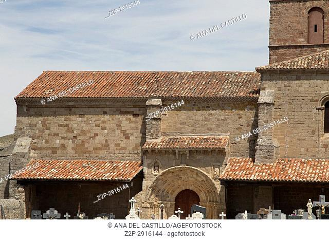 Santa Maria del Rey church Atienza village in Guadalajara, province, Castilla-La Mancha, Spain