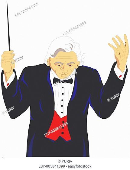 man conductor leader