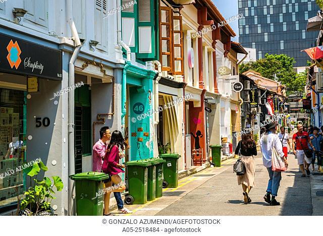 Haji Lane. Arab street district. Kampong Glam. Singapore. Asia