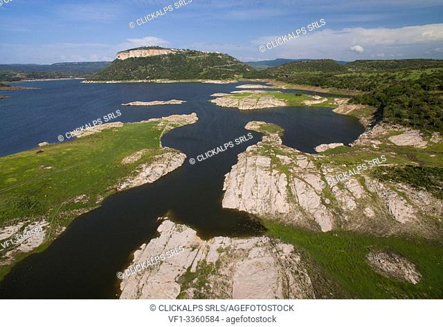 Temo lake, Monteleone Rocca Doria, Sassari province, Sardinia, Italy, Europe
