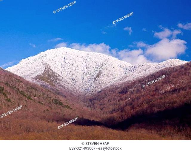 Mount leconte in snow in smokies