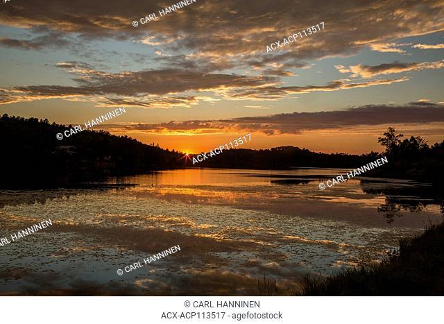 Sunset, St.Pothier Lake, Whitefish, City of Greater Sudbury, Ontario, Canada