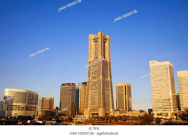 Asia, Japan, Tokyo, Yokohama, Minatomirai, Waterfront, Landmark Tower, Skyscraper, Skyscrapers, Yokohama Skyline, Port, Ports