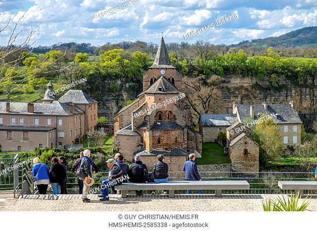 France, Aveyron, Bozouls, the Trou de Bozouls (Bozouls Hole) and Sainte Fauste church