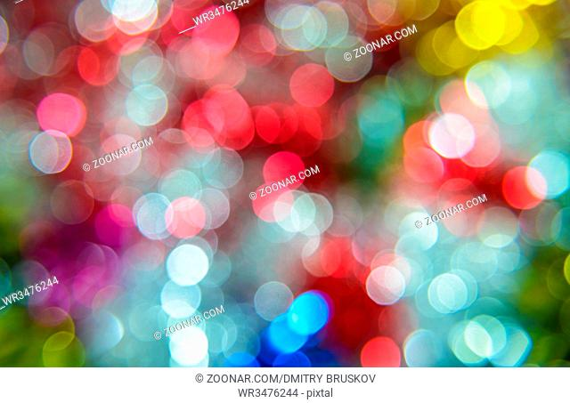 New Year multicolored abstract background garland with meshura