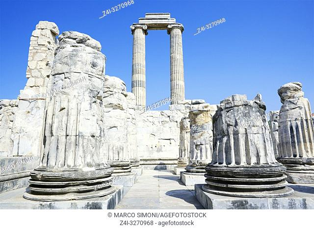 Temple of Apollo, Didyma, Anatolia, Turkey, Asia Minor, Eurasia