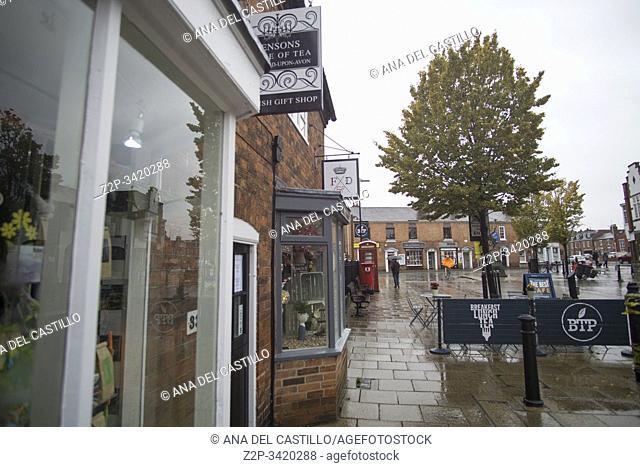 . Stratford-upon-Avon English City Landscape and Skyline on October 13, 2019