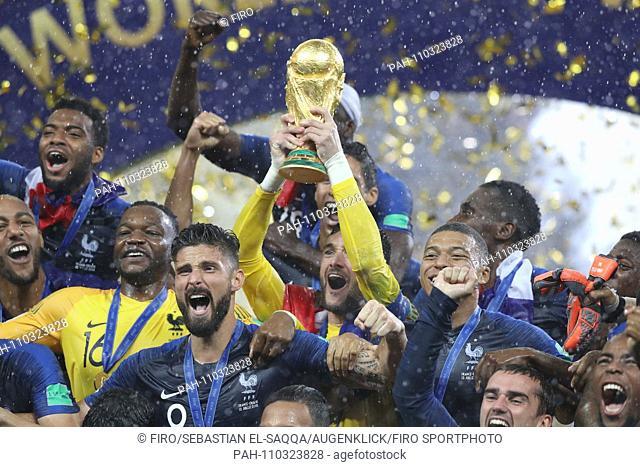 firo: 15.07.2018, Moscow, Football, Soccer, National Team, World Cup 2018 in Russia, Russia, World Cup 2018 in Russia, Russia, World Cup 2018 Russia, Russia