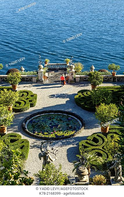 The Borromeo's Palace and gardens on Isola Bella, Borromean Islands, Lake Maggiore, Piedmont, Italy