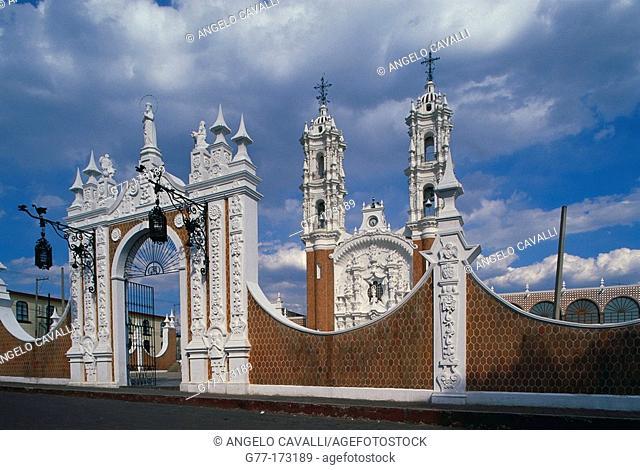 Church of the Virgin of Ocotlán. Tlaxcala. Mexico