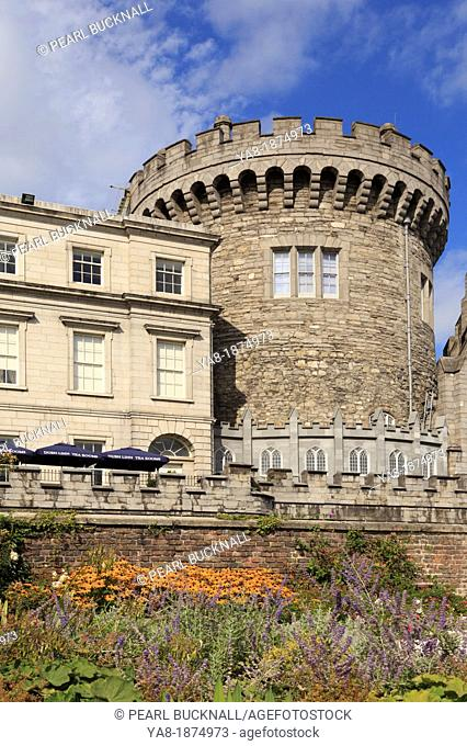 Dublin, Republic of Ireland, Eire, Europe  The 13th century Record Tower the only remaining part of original medieval Norman castle is now the Garda museum...