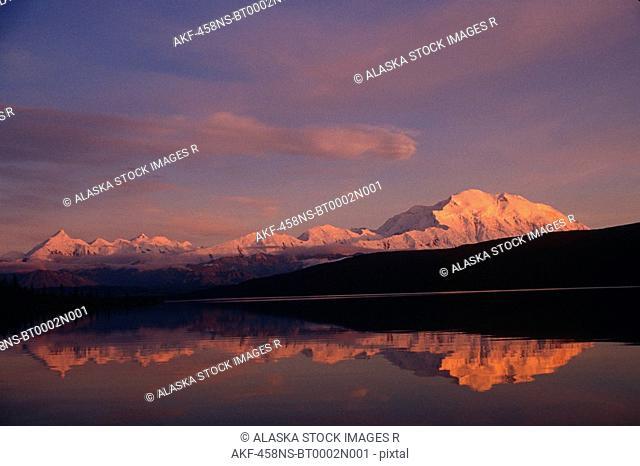 Sunset Mt McKinley Wonder Lake Denali NP Alaska/nFall Interior