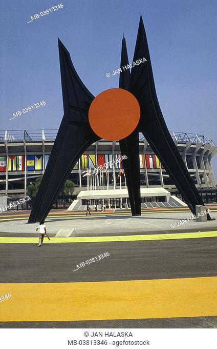 Mexico, Mexico city, Azteca stadium,  Sculpture,  no property release,  Central America, Aztec stadium, football stadium, stadium, build 1966, Eingangsbereicht