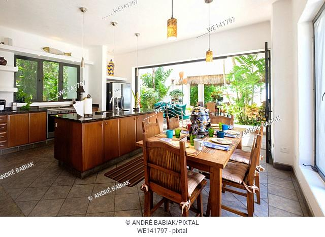 Kitchen in upscale Mexican Residence, Punta de Mita, Riviera Nayarit, Mexico